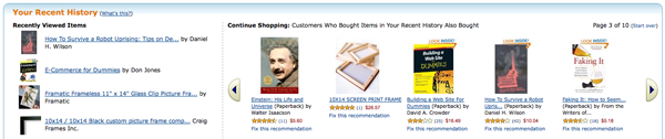 Product Recommendations from Amazon