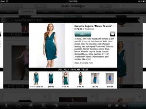 Boutiques.com iPad app from Google product overlay