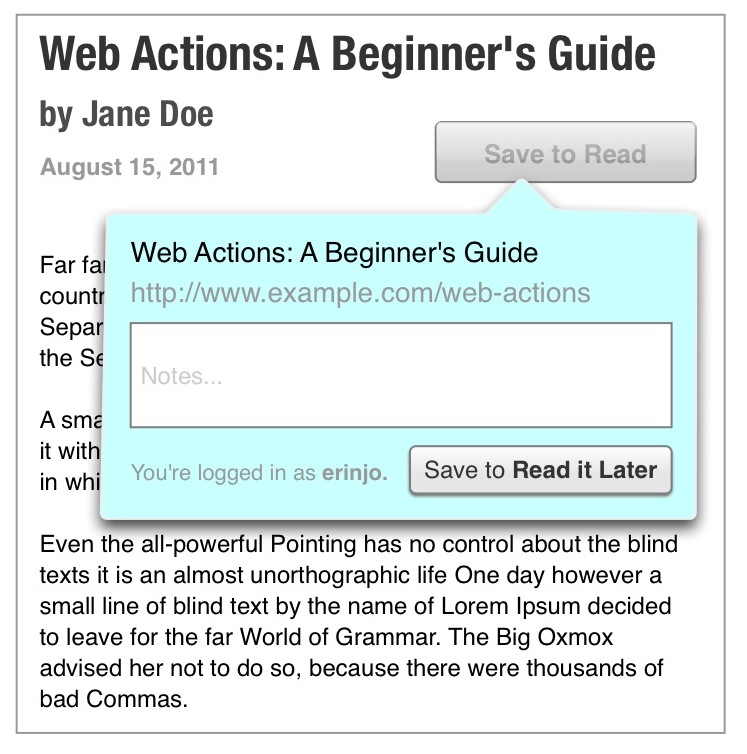 Web Actions Step 3